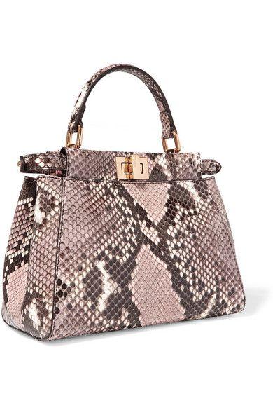 Fendi Kaboo Mini Python Shoulder Bag Net A Porter Com