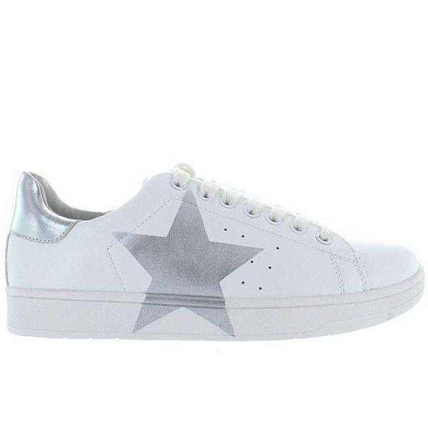 d6724584c1d Steve Madden Rayner - Silver Star Low-Top Platform Sneaker ...
