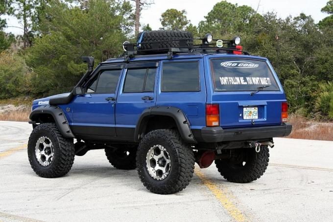 1994-jeep-cherokee-xj-4x4-side-view_934_c.jpg (680×455) To Add it has a 6.5inch Lift on 35s, Nice XJ