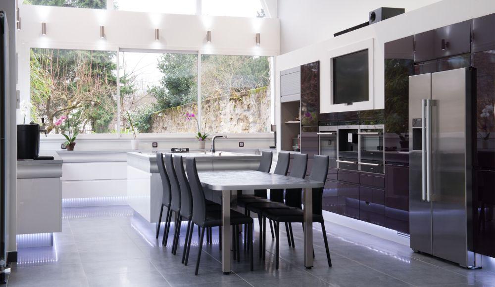 Cuisine design Extension maison - Modèle Rendez-vous Cuisine and - deco maison cuisine ouverte