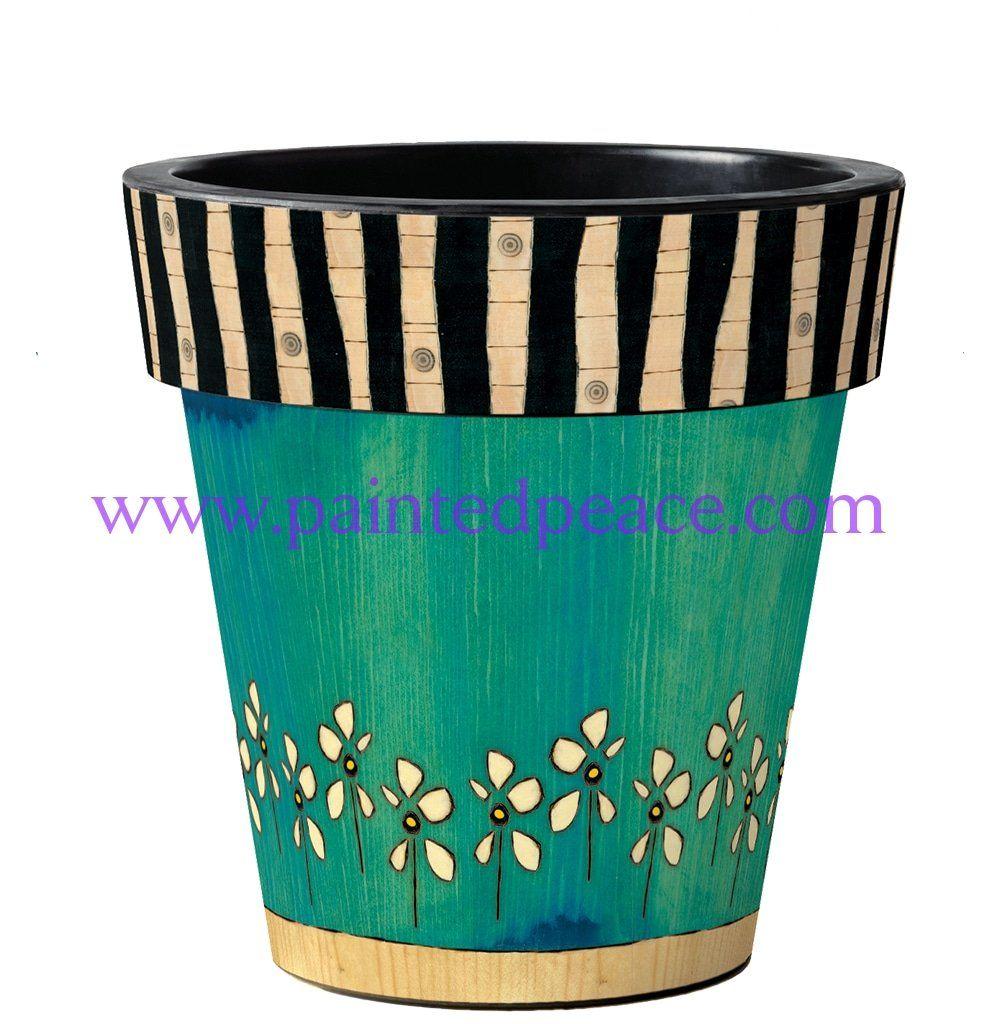 Make Her Daisy Garden Art Planter 12 Inch Garden Art Planters Planter Pots