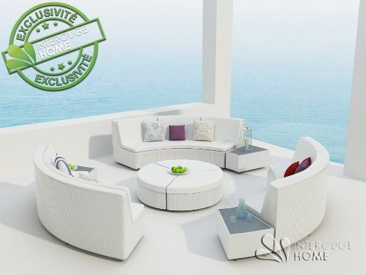 InterougeHome - Salon de Jardin RILASA Rond Modulable Coloris ...