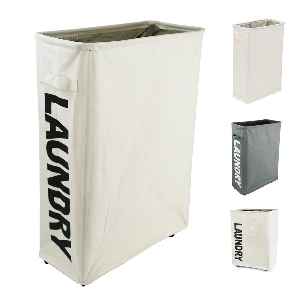 Homiak Slim Line Laundry Hamper With Wheels For Clothes Storage