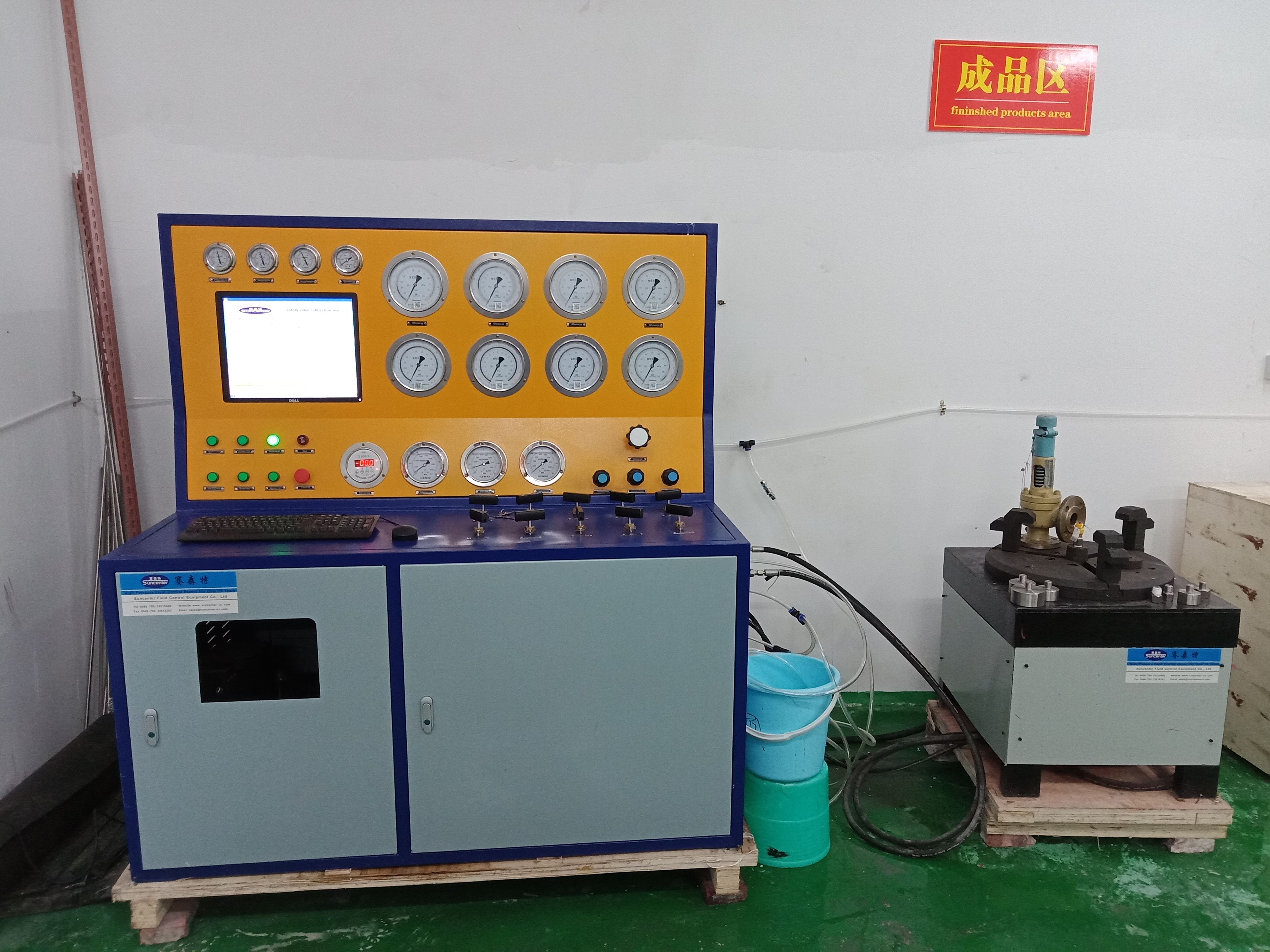 Computercontrolled safety valve hydraulic test bench in