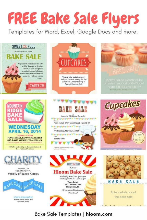 Get BAKE SALE PREP TIPS + Tons of FREE Bake Sale Flyers! Discover