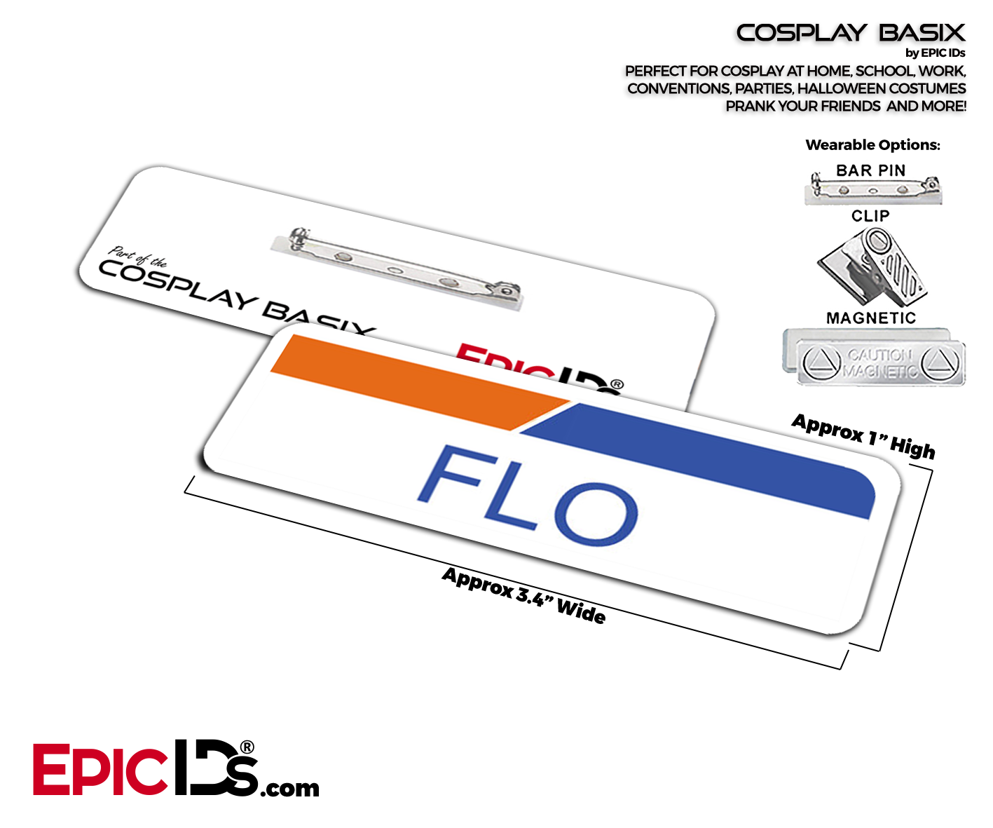 Flo From Progressive Insurance Cosplay ID Name Tag (With