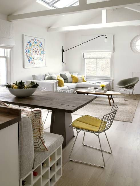 Putney Loft Conversion Eclectic Living Room By Amory Brown Ltd Open Plan Kitchen Living Room Living Room Kitchen Dining Room London