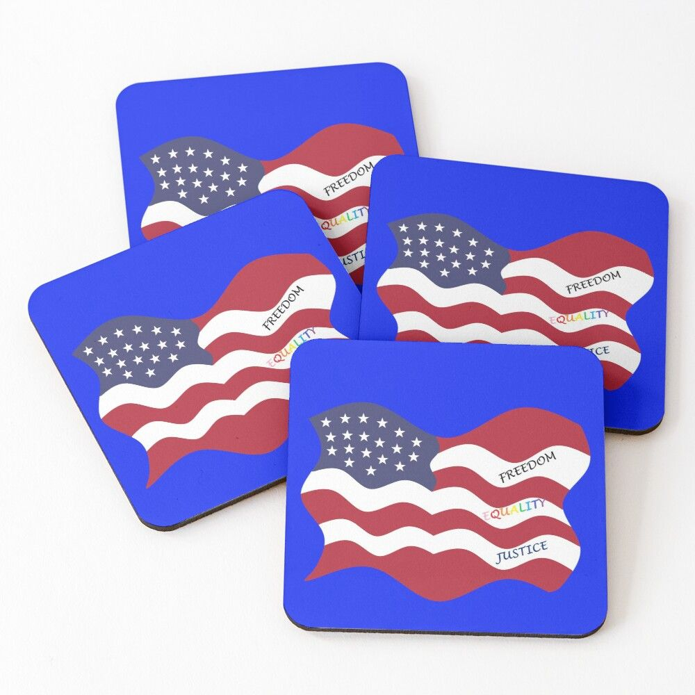 Get My Art Printed On Awesome Products Support Me At Redbubble Rbandme Https Www Redbubble Com I Coasters Amer Flag Design American Flag American Flag Art