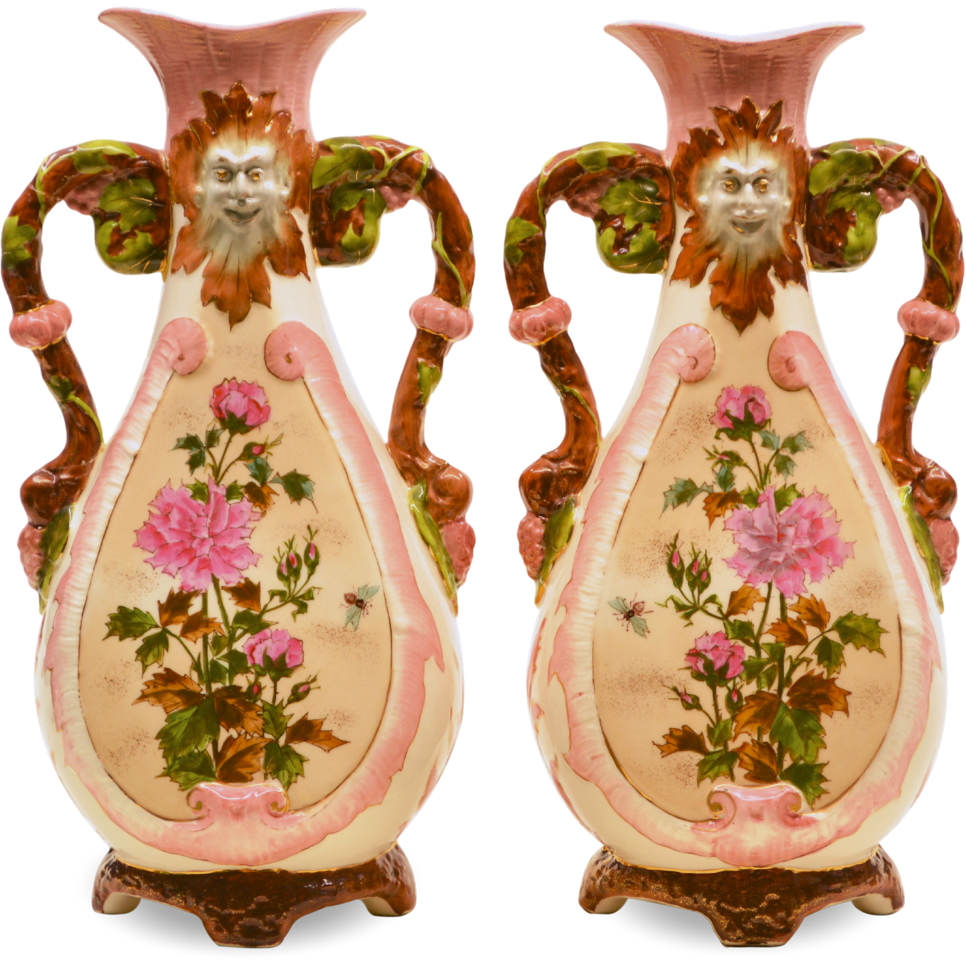Pair antique pottery vases north wind faces antique pottery pair antique pottery vases north wind faces reviewsmspy