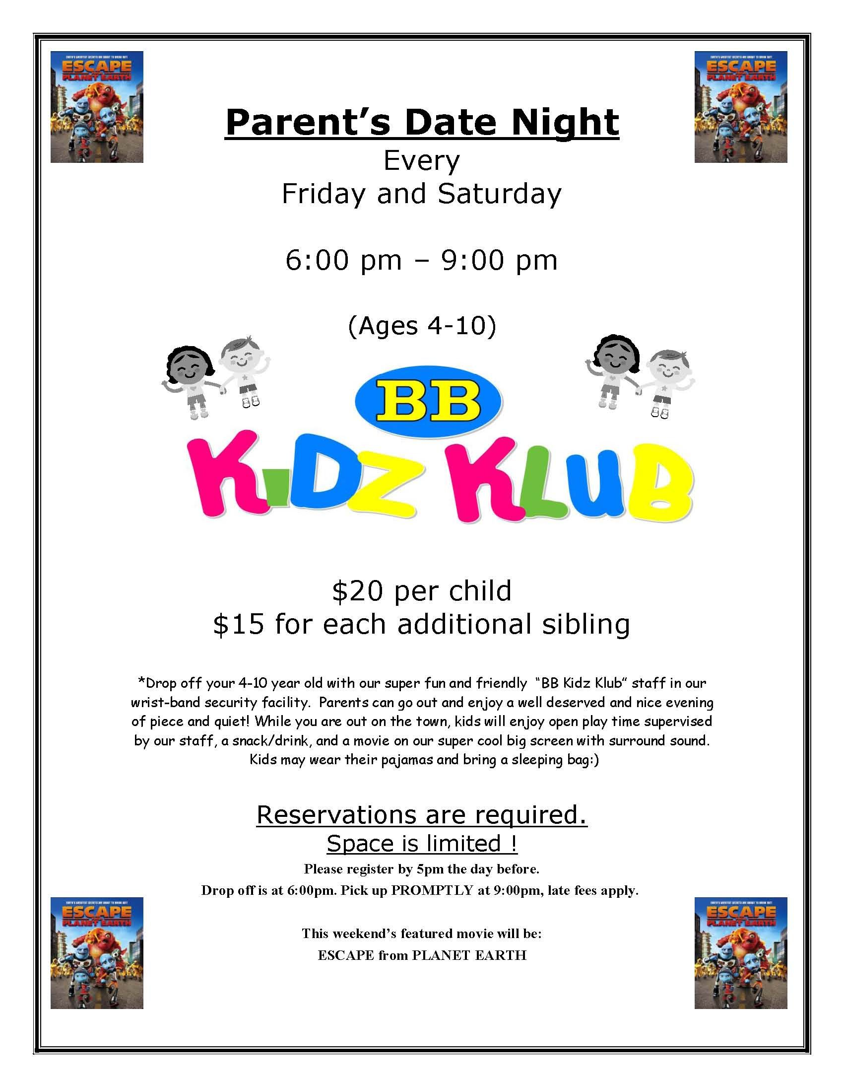 Pa S Night Out Bb Kidz Klub Indoor Play And Party Center Westford