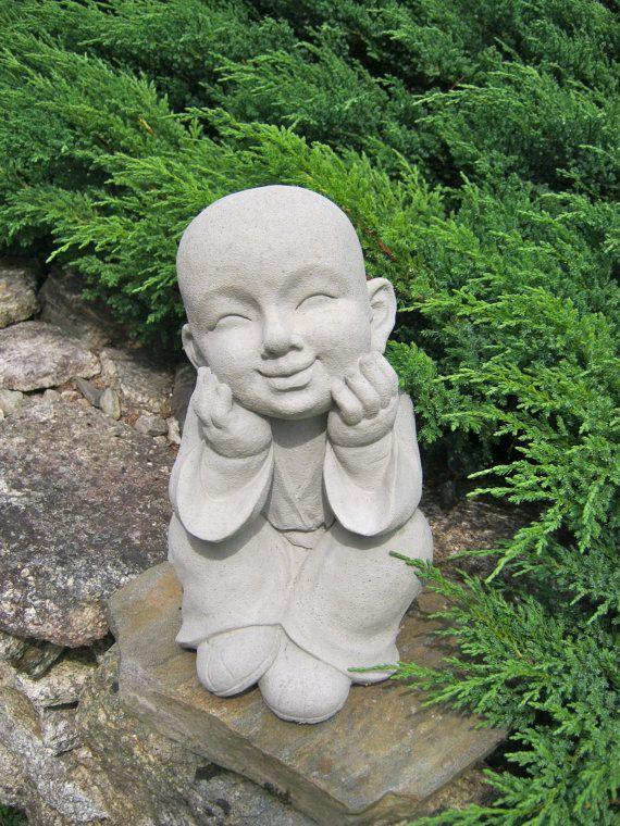 Boy Statue Buddhist Monk Pupil Of Buddha Garden Statue Garden