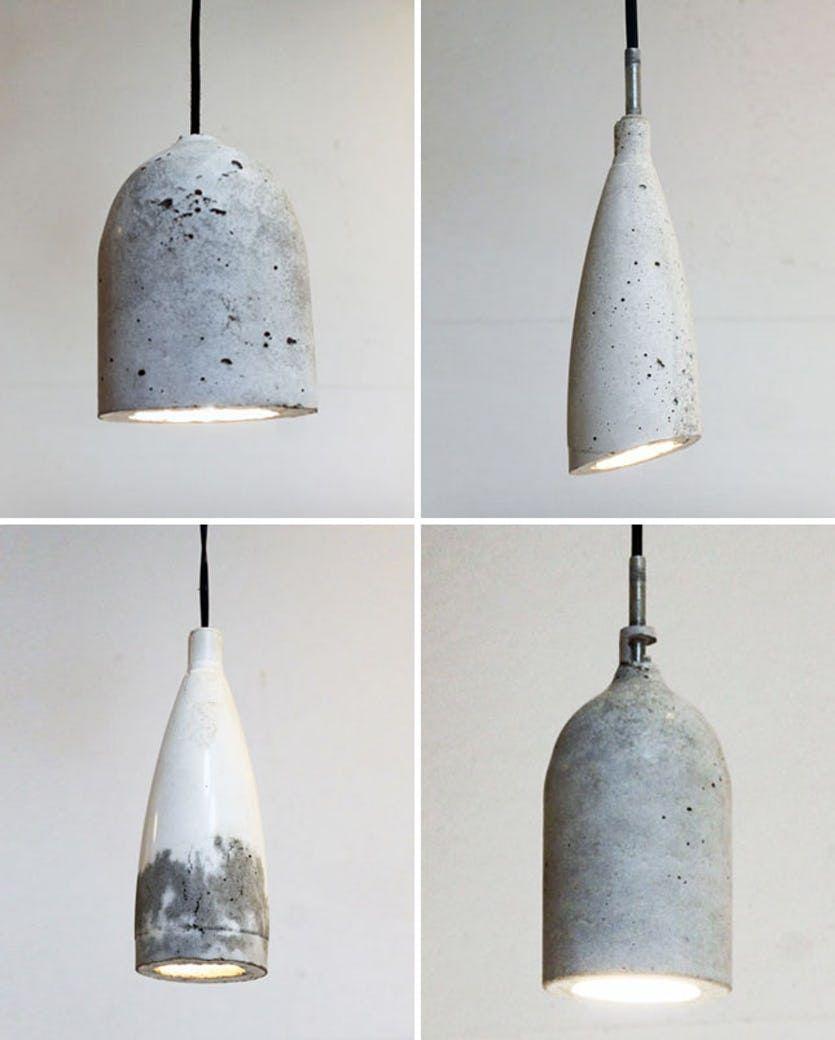 Sadan Laver Du En Ra Beton Lampe Med Billeder Diy Lampe Lampe Armatur