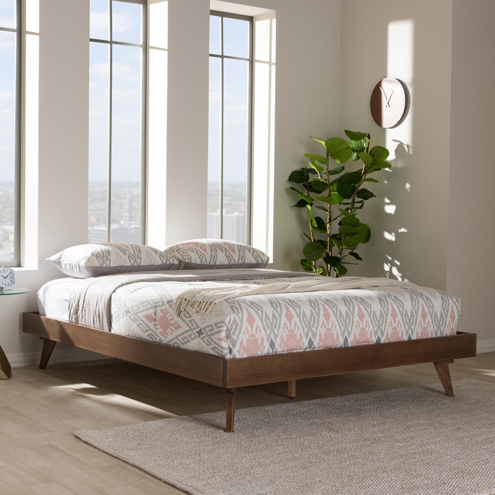 minimal platform bed crafted from solid