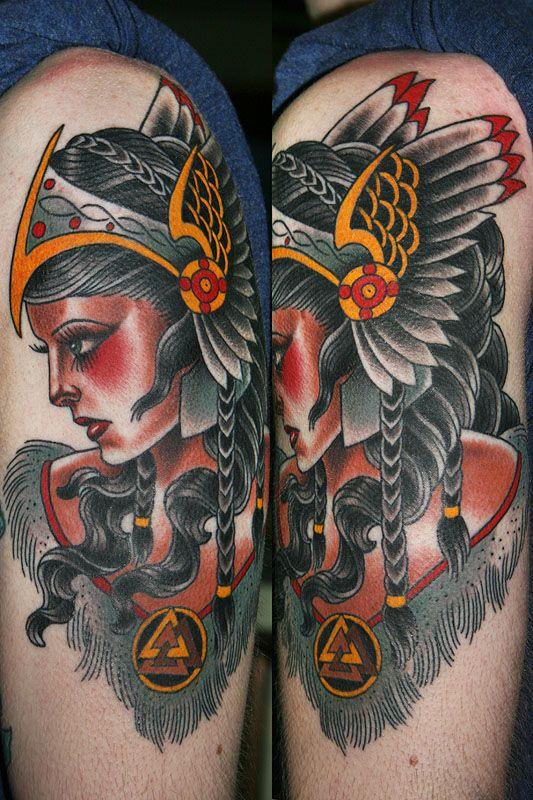 Valkyrie Valkyrie tattoo, Traditional viking tattoos