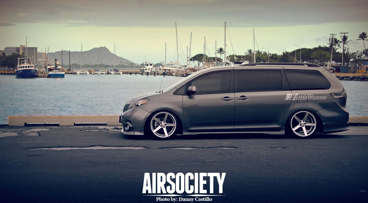 Toyota Sienna Auto Customs Bagged Air Ride Suspension Stance Slammed Van 006
