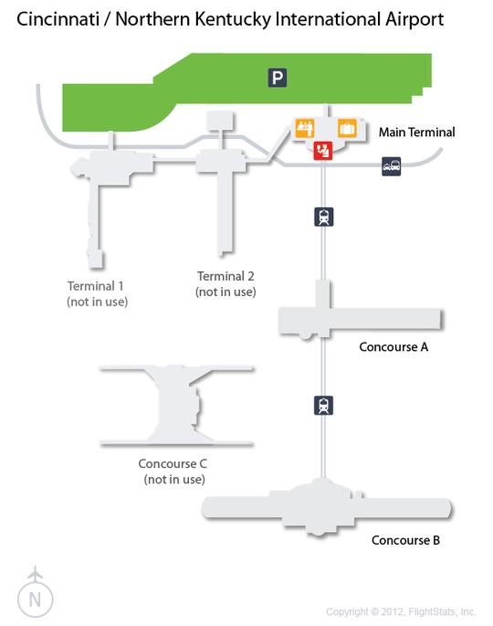 cvg cincinnati northern kentucky airport terminal map airports