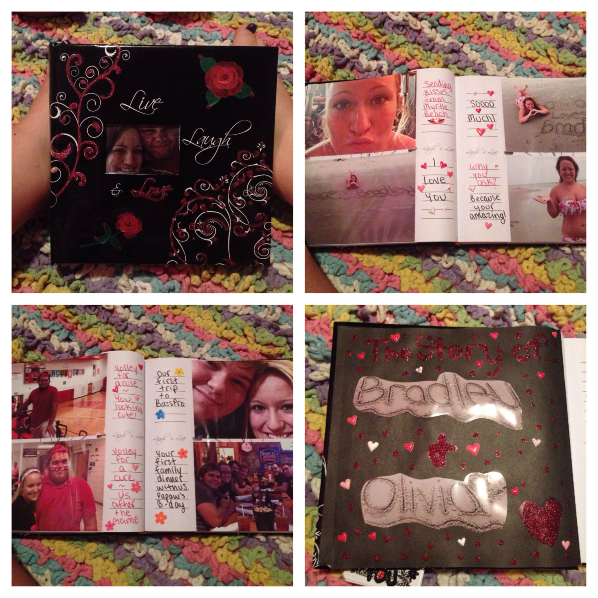 Photo album I made my boyfriend. ❤ It's a great DIY gift for ...