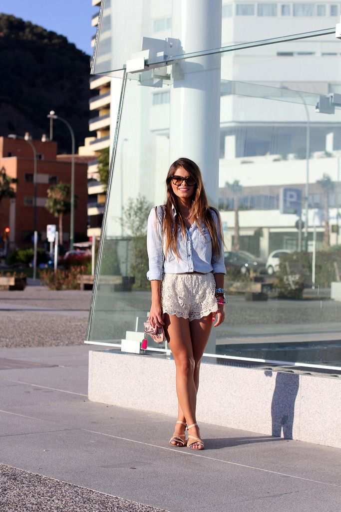 Shirt / Shirt - Mango (old) Shorts - Pia Market  (SS 13) Sandals / Sandals - Zara (old) Bag / Bag - Aldo (old) Sunglasses / Sunglasses - Prada Bracelets / Bracelets + necklace / Necklace - Lowlita & you