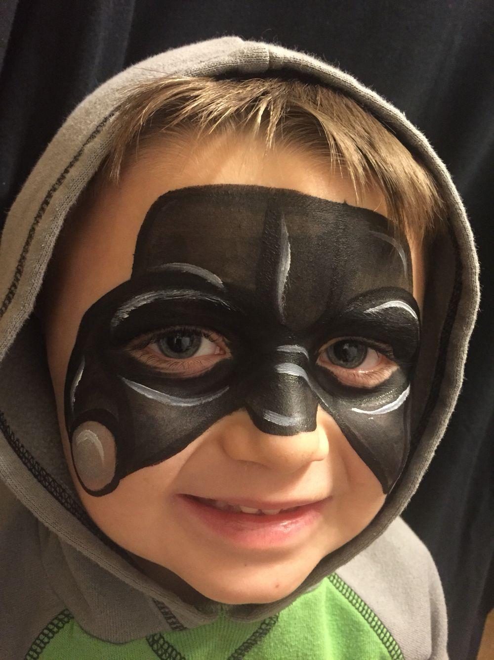 Little Darth Vader Facepaint Wichita Justfaceitfacepainting Starwars Darth Vader Makeup Darth Vader Face Paint Darth Vader Face