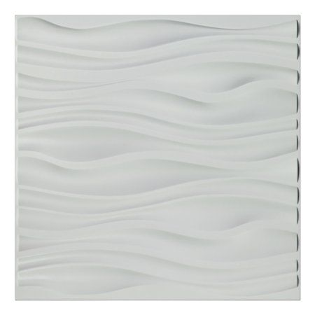 Pvc Wave Board Textured 3d Wall Panels White 19 7 X 19 7 12 Pack Walmart Com Pvc Wall Panels 3d Wall Panels Pvc Wall