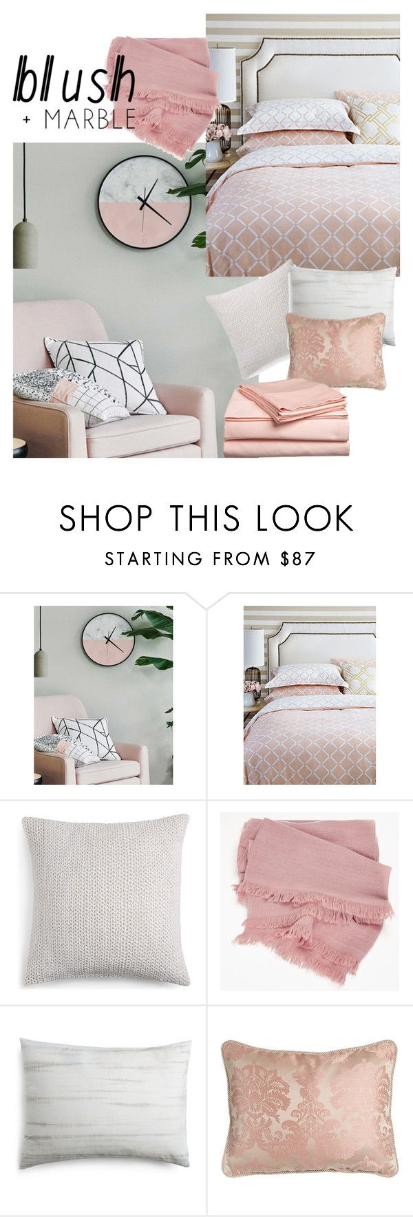 """blush and marble bedroom""""medgurl ❤ liked on polyvore"""