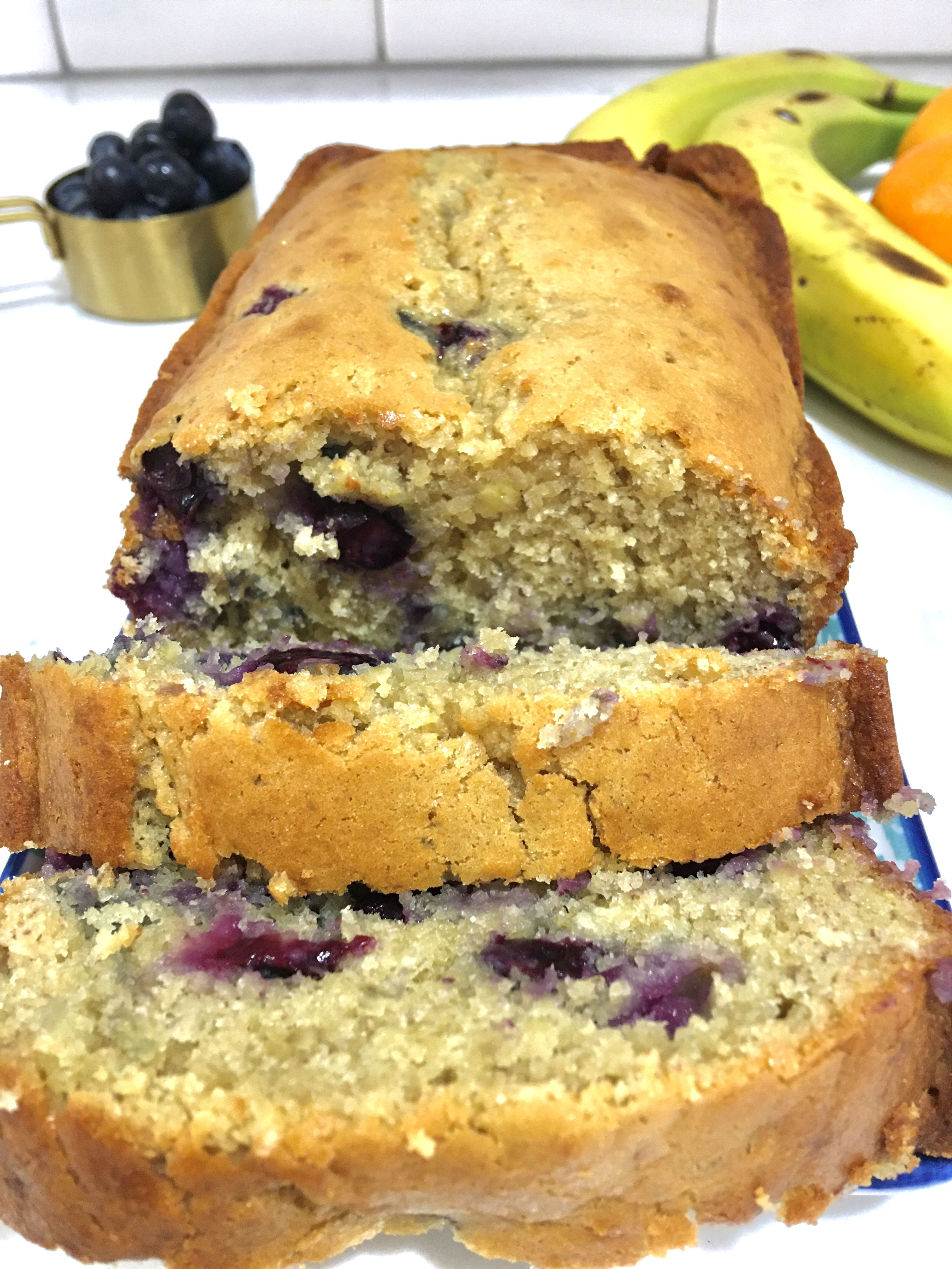 Blueberry Banana Bread Recipe In 2020 Blueberry Banana Bread Sweet Bread Rolls Bread Recipes Homemade