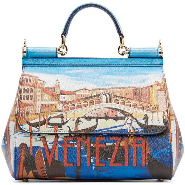 Dolce And Gabbana Blue Medium Venezia Miss Sicily Bag (€2.090 ... 96abdcc6b16a3