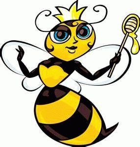 larvae diet determines future worker bees from queens queen bees rh pinterest com queen bee cartoon clip art queen bee clip art free