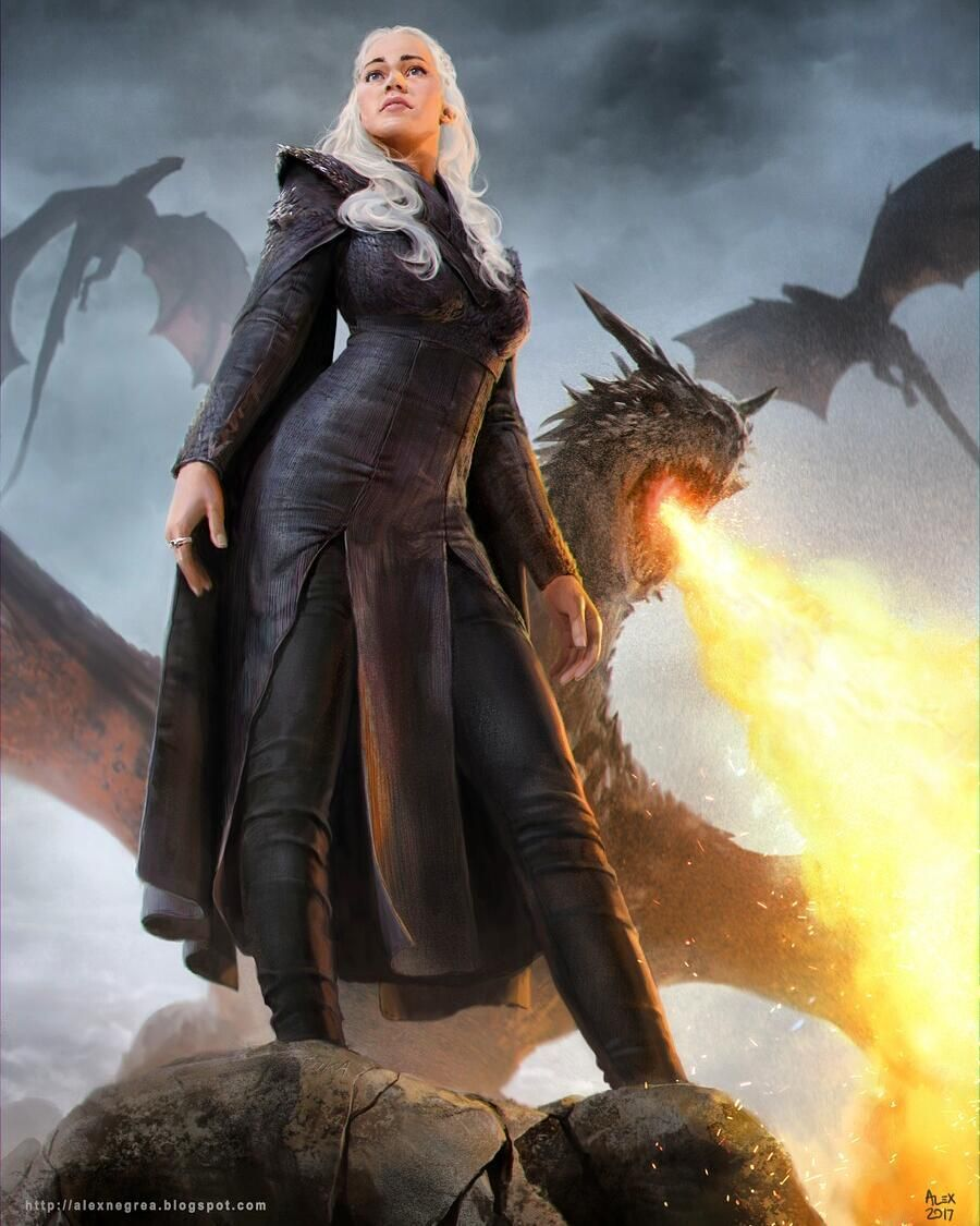 Game of Thrones Daenerys Targaryen Westeros Queen - by ...