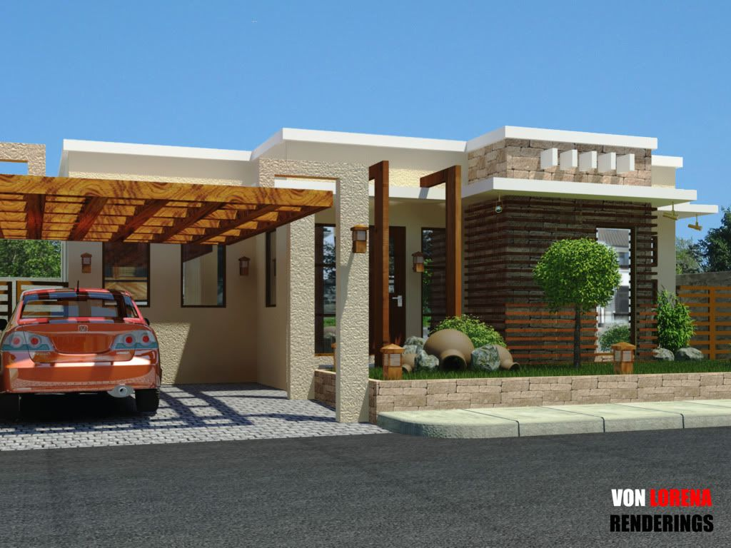modern bungalows modern bungalow in silang cavite mental ray modern contemporary dwellings. Black Bedroom Furniture Sets. Home Design Ideas