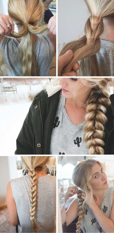 Easy pull through braid tutorial frizura pinterest perfect