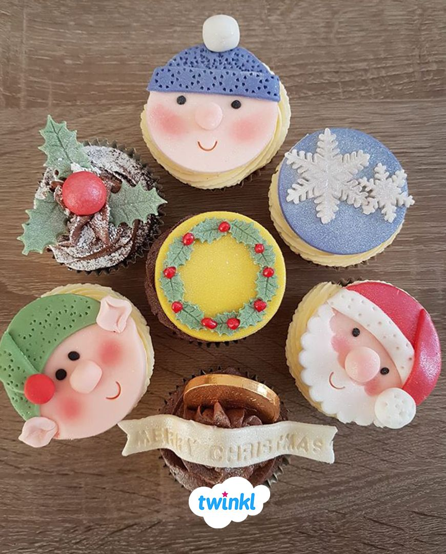 These Lovely Christmas Cupcakes Were Made By Twinkl Member