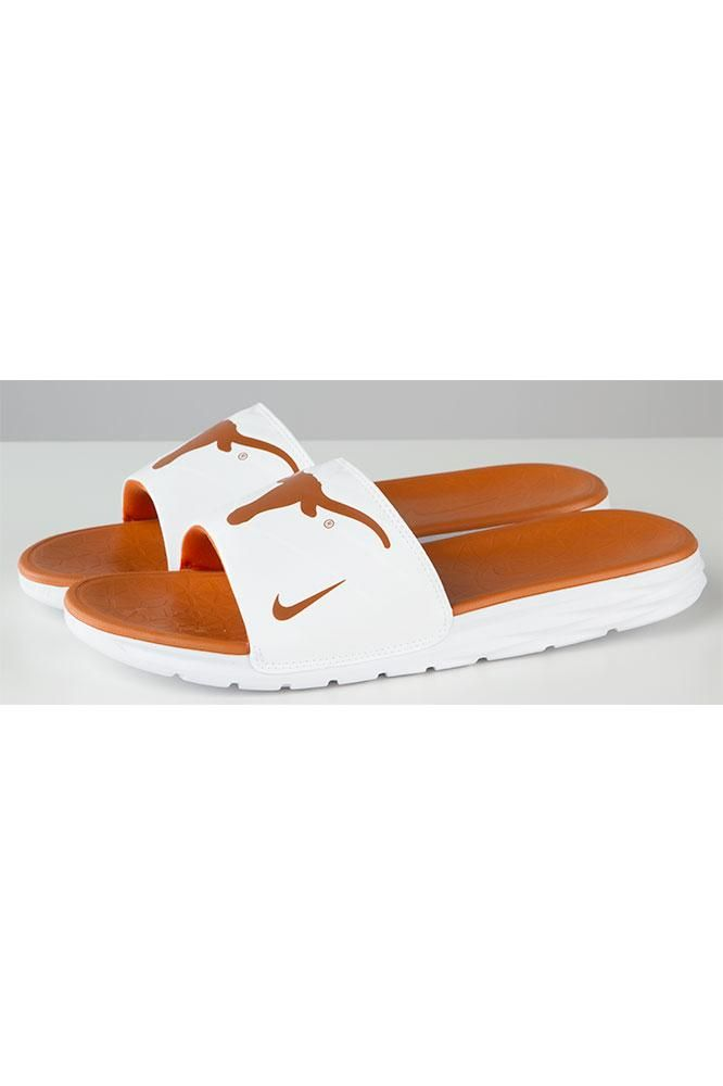 a3cdb0751f3f With the Nike Texas Longhorn Benassi Solarsoft Slides you can show off your…