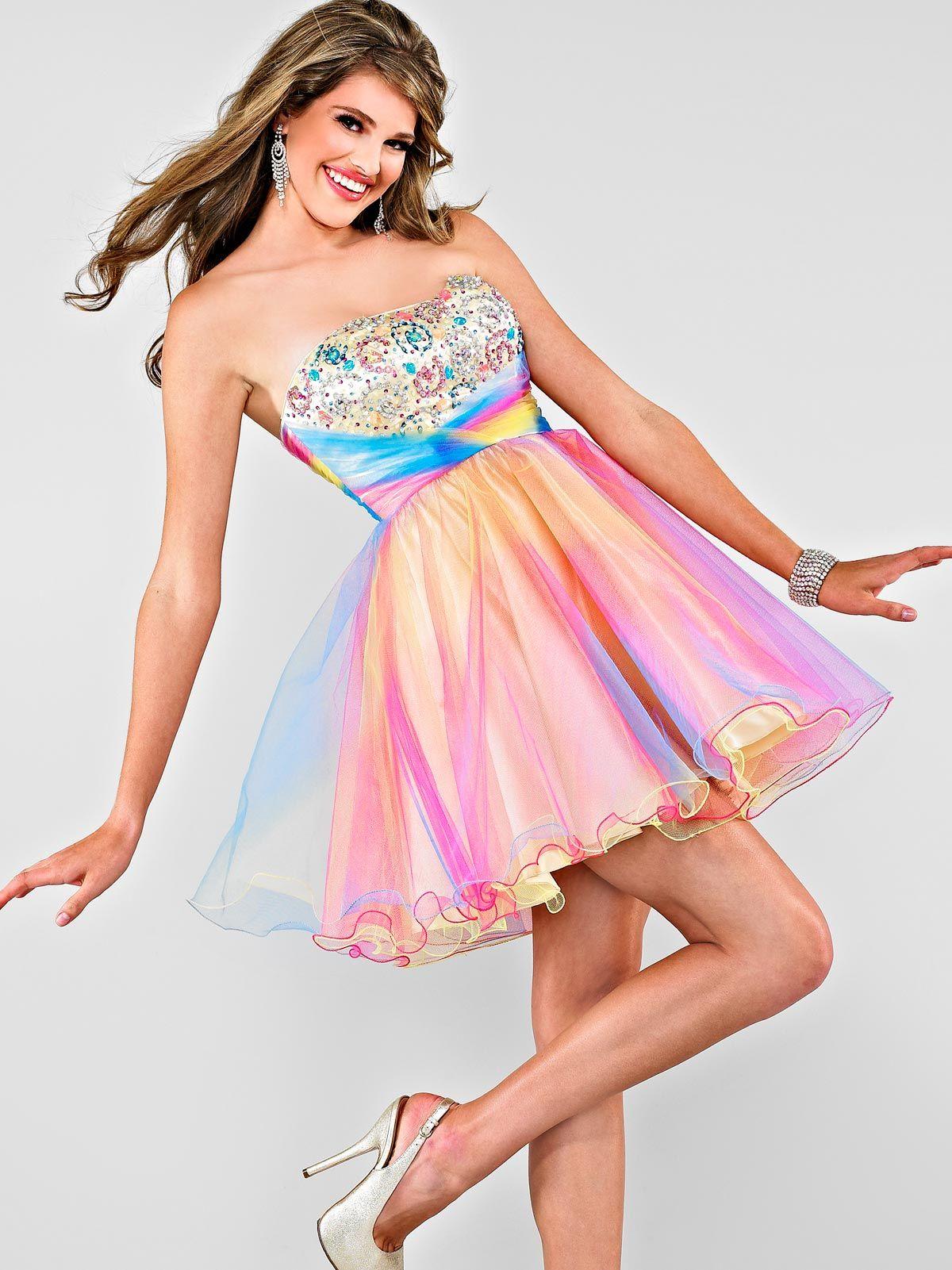 Vestidos de 15 cortos multicolor