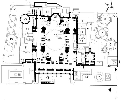 Ayasofya Hagia Sophia Architecture Floor Plans