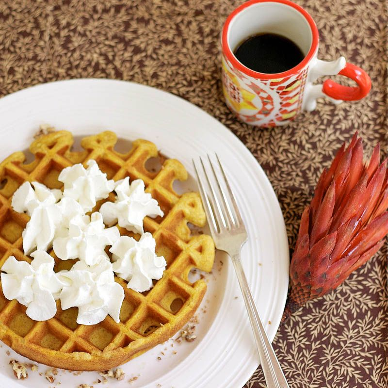 Pumpkin Cheesecake waffles-i know kenz will love these! ;)