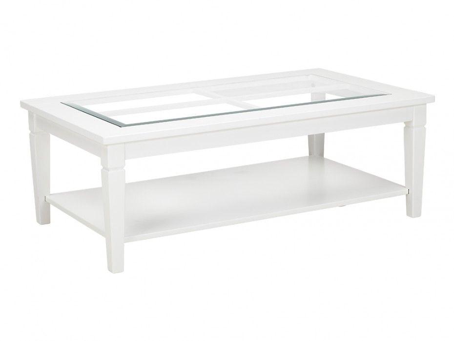 Table Basse Guerande Plateau En Verre Trempe Pin Blanc Table Basse Table Basse Blanche Decorations De Salle De Sejour