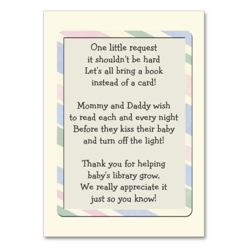 baby shower book request insert card  babies and baby sprinkle, Baby shower invitation