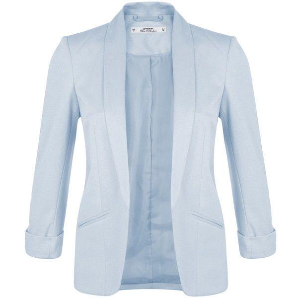 Miss Selfridge Petites Blue Blazer Jacket Ponte Blazer Petite Blazer Peach Blazer
