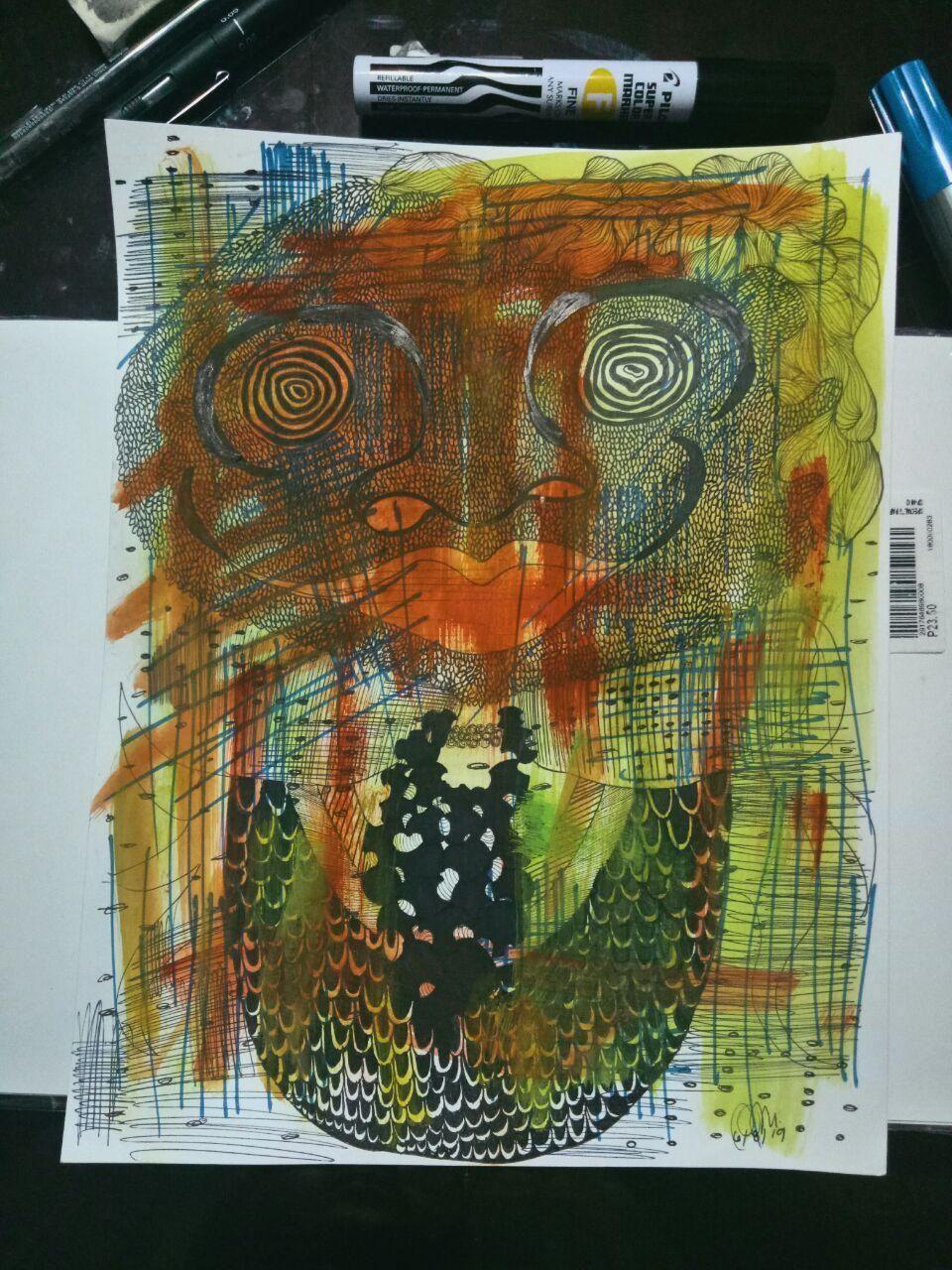 Ink and watercolour on paper  #abstractart #abstract #artph #art #weird #creepy #ink #weirdart #instart #artistsoninstagram #creepyart #traditionalart #abstractartist #weirdartwork #creepyartwork