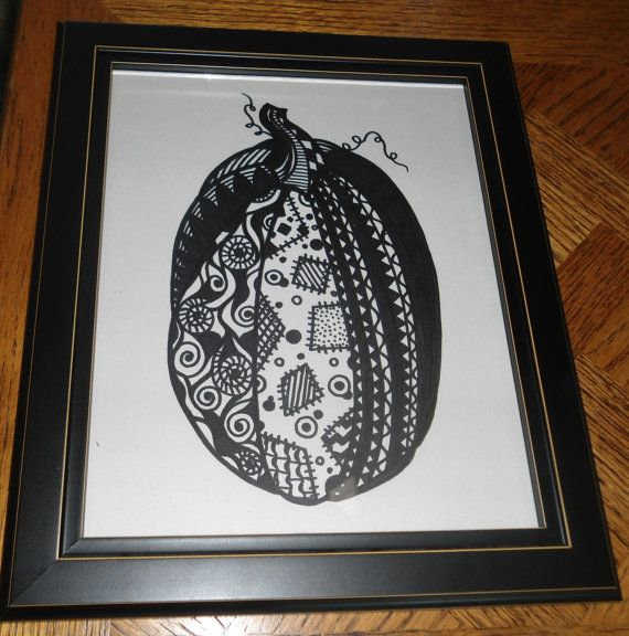Fall Pumpkin Drawing II by IndieGirlCreations on Etsy, $8.00
