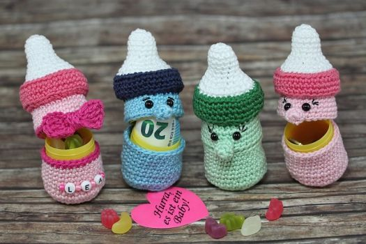 Sweepies Häkelanleitung ü Babyflasche Crochet Ideas And