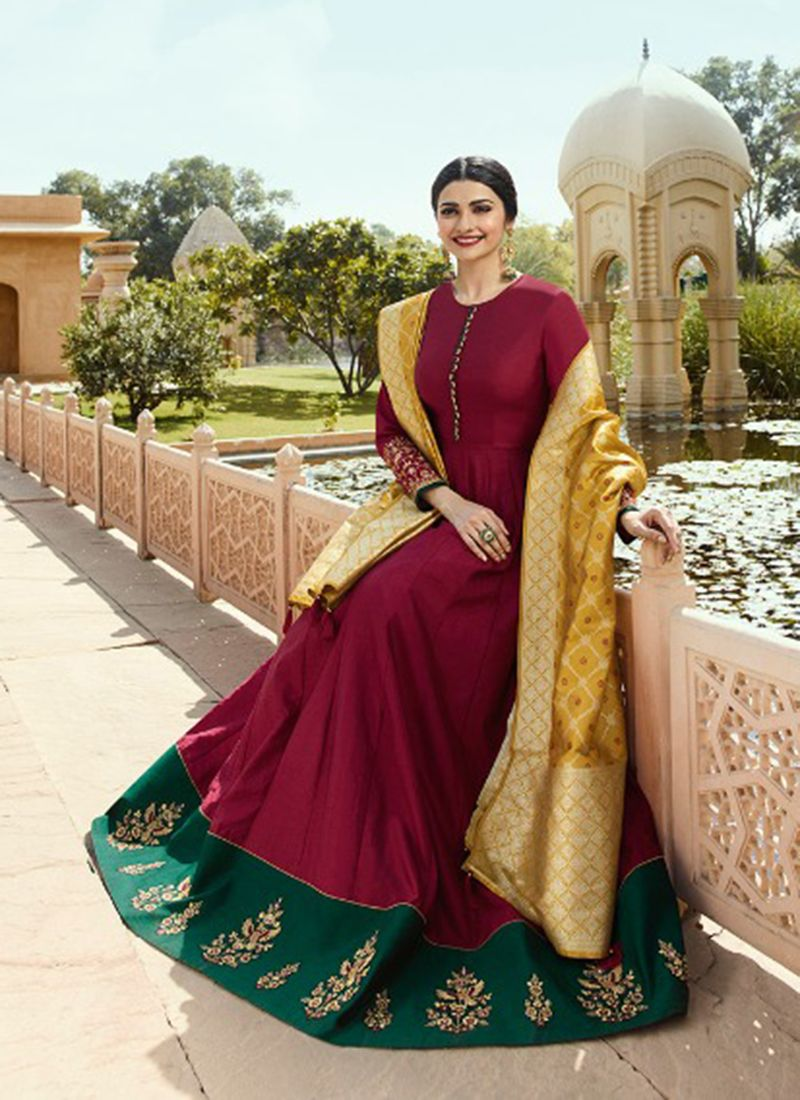 7d3a0db0e80c0 Designer Party Wear Prachi Desai Abaya Style Suits Collection With Banarasi  Dupatta #shopping #designer #clothing #fashion