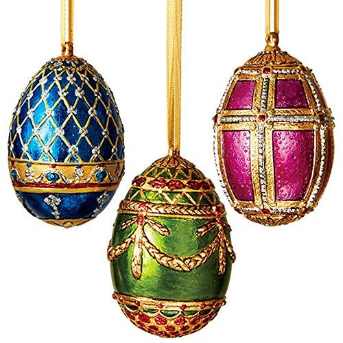 Metro Christbaumkugeln.Cocoscollection Russian Imperial Egg Ornament Set The