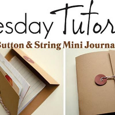 button and string mini journal