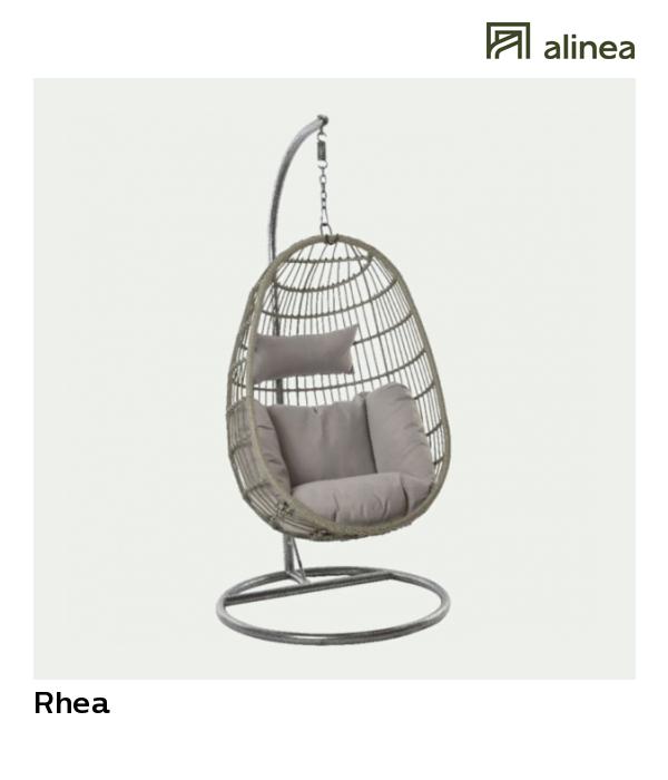 alinea : rhea fauteuil suspendu gris effet rotin tressé jardin ...