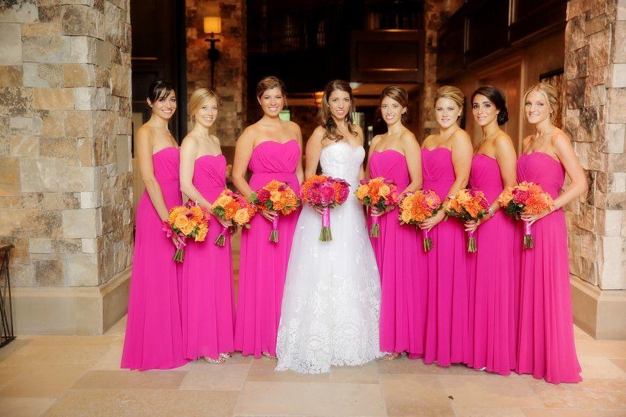 Vibrant Utah Resort Wedding | Damitas de honor, Damas y Peinados