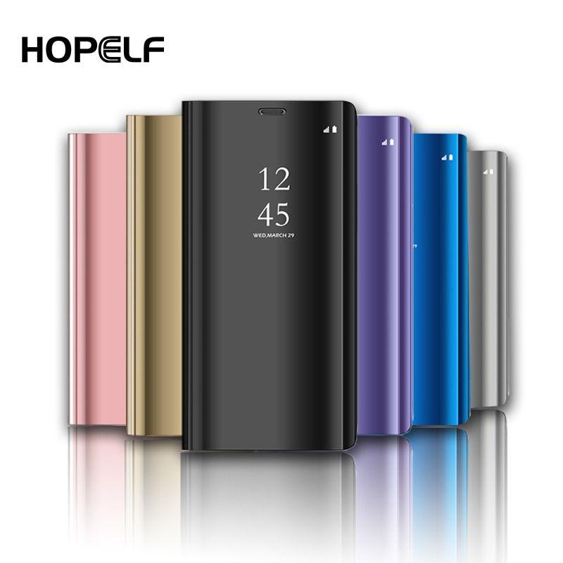 Mirror Flip Case For Samsung Galaxy S10 S8 S9 Plus S7 Edge S6 A6