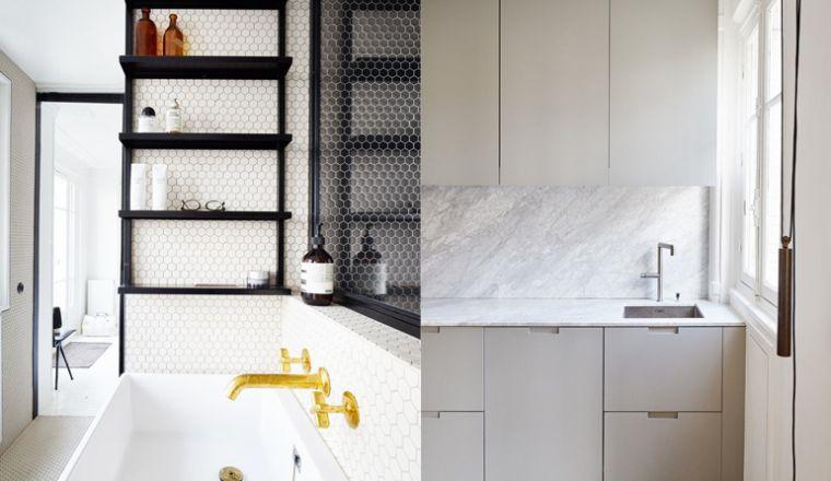 Zwart Wit Appartement : Parijs appartement vol zwart wit en marmer home pinterest