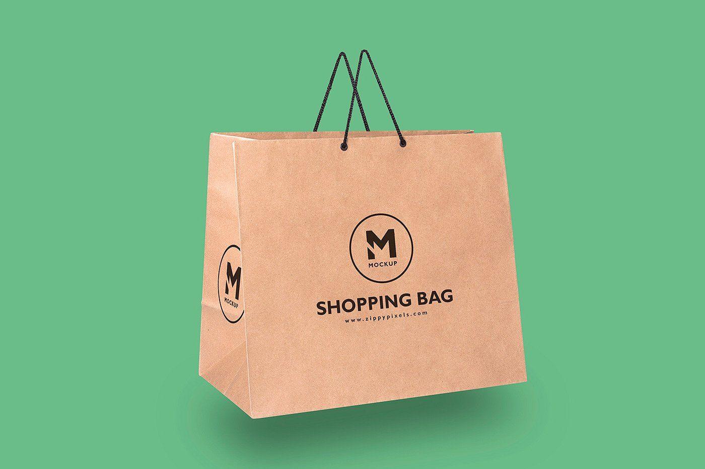 Download Paper Bag Mockups Bag Mockup Folding Bag Paper Shopping Bag